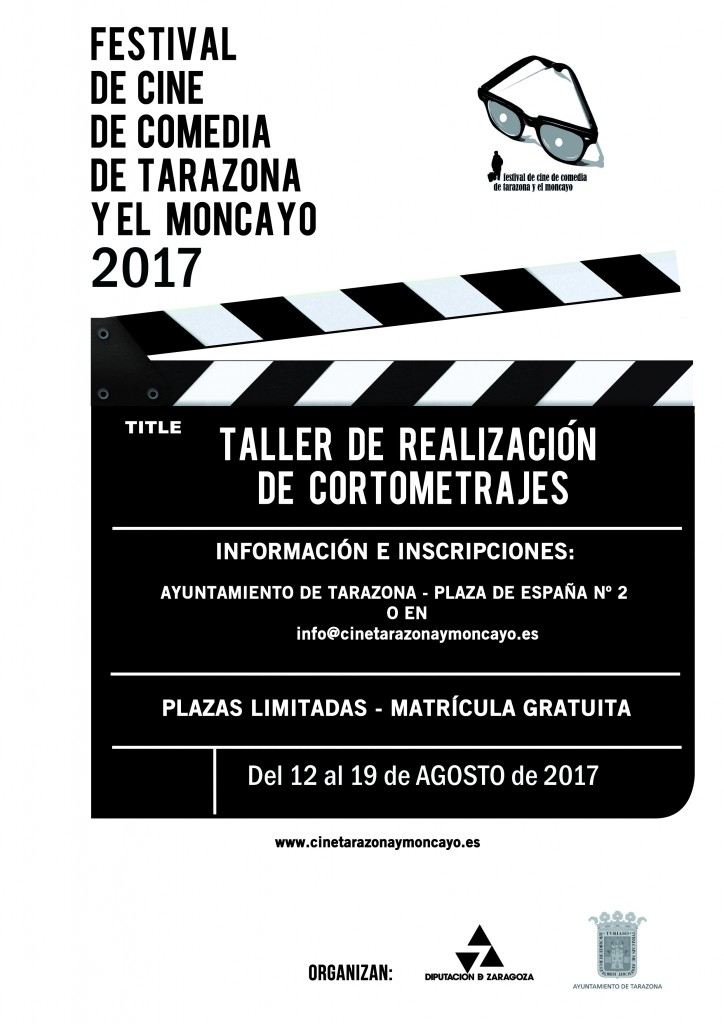 cartel taller cortos Tarazona 2017-2